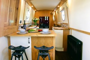 Narrowboat breakfast bar